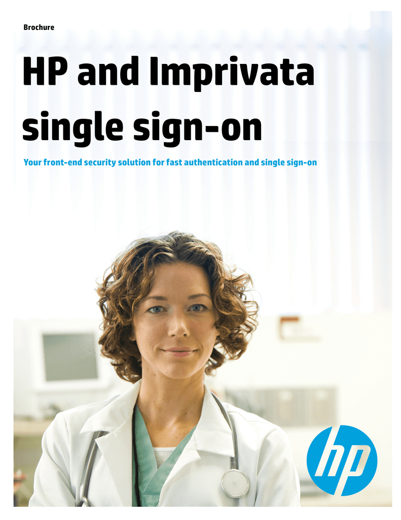 HP and Imprivata single sign-on