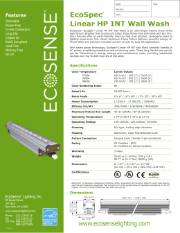 EcoSpec® Linear HP INT Wall Wash