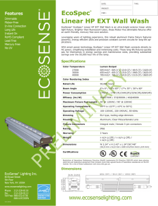 EcoSpec® Linear HP EXT Wall Wash