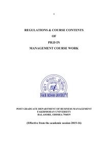 Syllabus for for Ph.D in Management Course Work