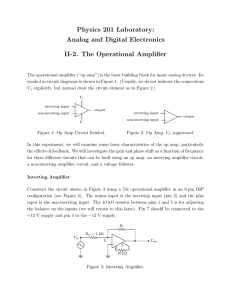 II-2. The Operational Amplifier