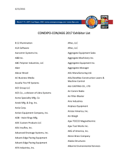 CONEXPO-CON/AGG 2017 Exhibitor List