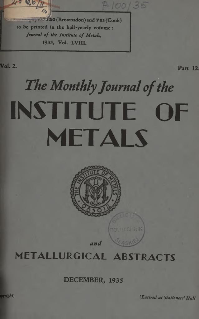 institute of metals Silesian University