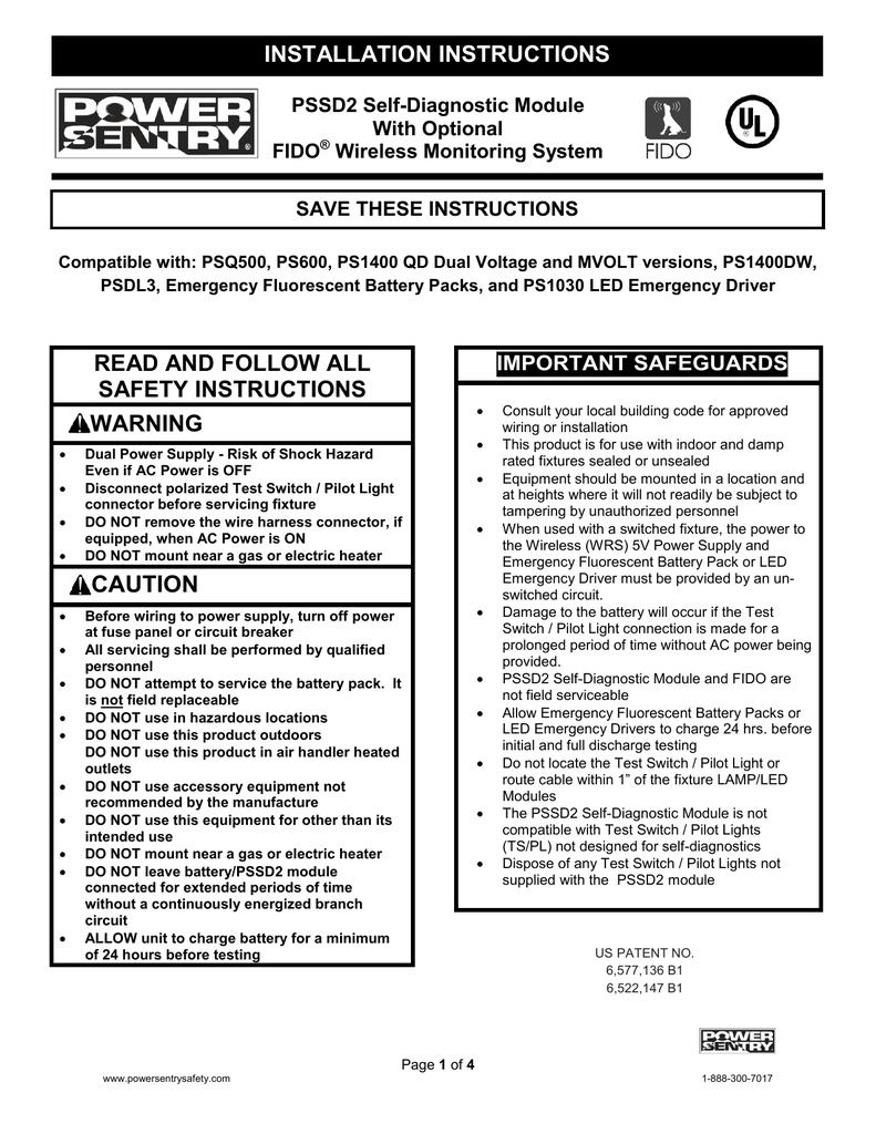 PSSD2 Installation Instruction