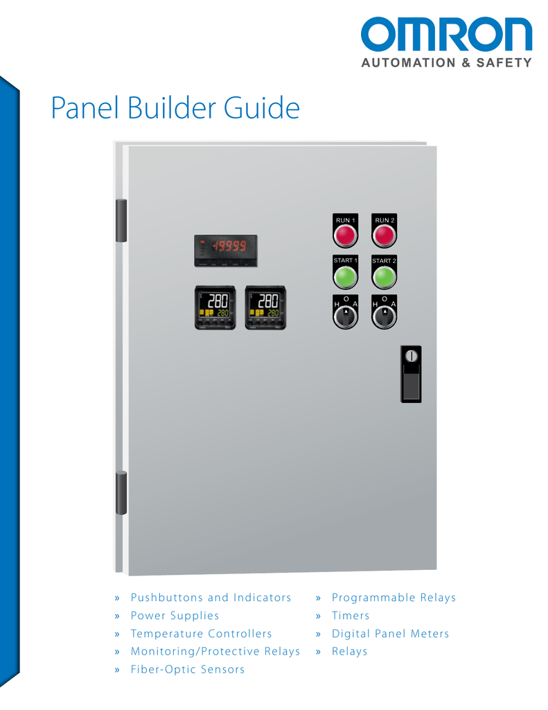 Omron Panel Builder Guide Brochure Current Relay
