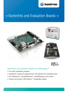 Starterkits and Evaluation Boards « » Starterkits and Evaluation