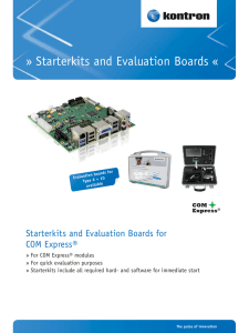 Starterkits and Evaluation Boards «