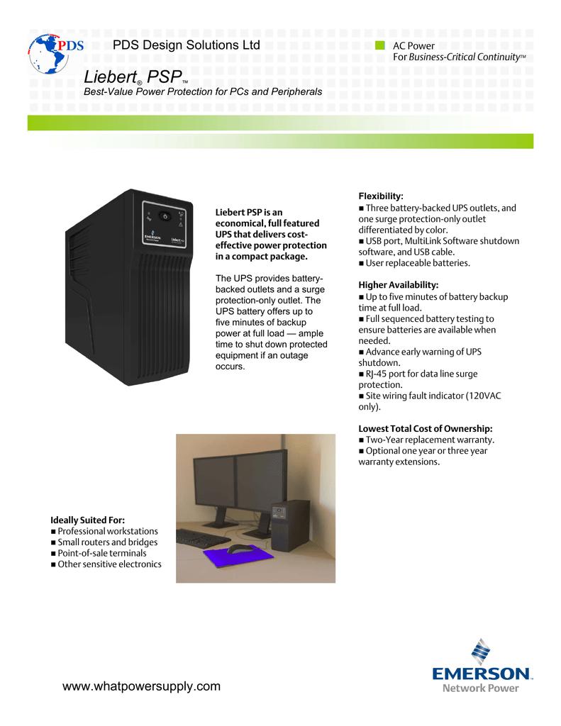 Liebert Psp Complete Wiring Solutions Ltd