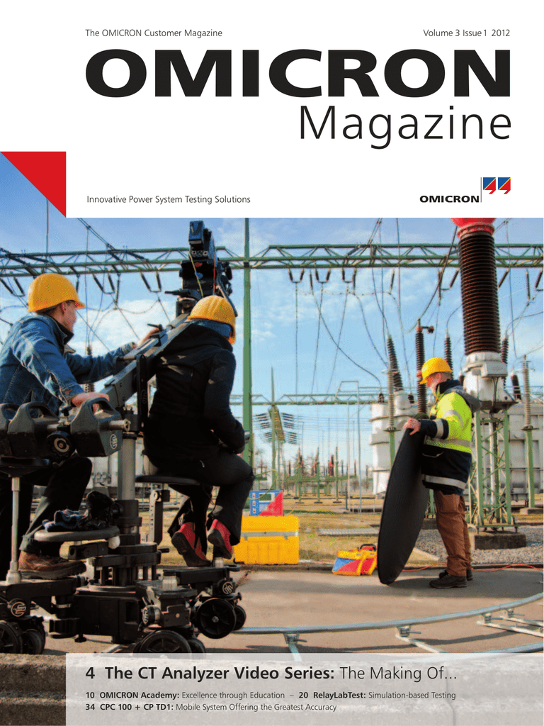 OMICRON Magazine 1/2012