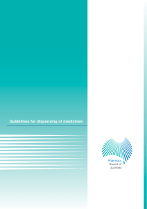 Guidelines for Dispensing of Medicines