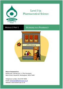 Regulations in the Pharmacy Environment