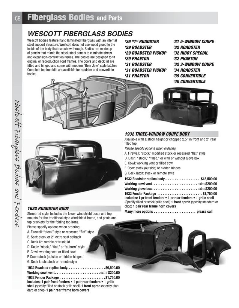 Fiberglass bodies and Parts