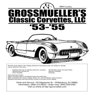 Parts and Service - Grossmueller`s Classic Corvettes