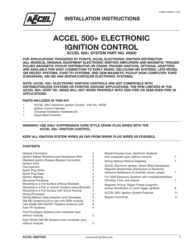 Accel 500 electronic ignition control publicscrutiny Gallery