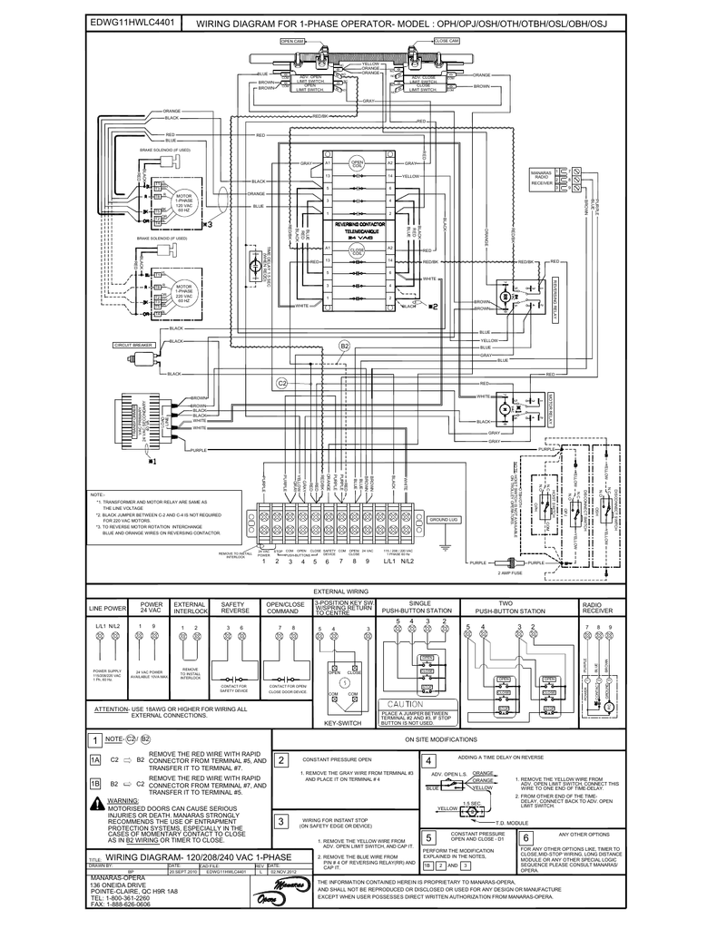 Wiring Diagram For 1 Phase Operator