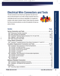 3M™ Wire Connectors and Tools, 2013 Electrical Product Catalog