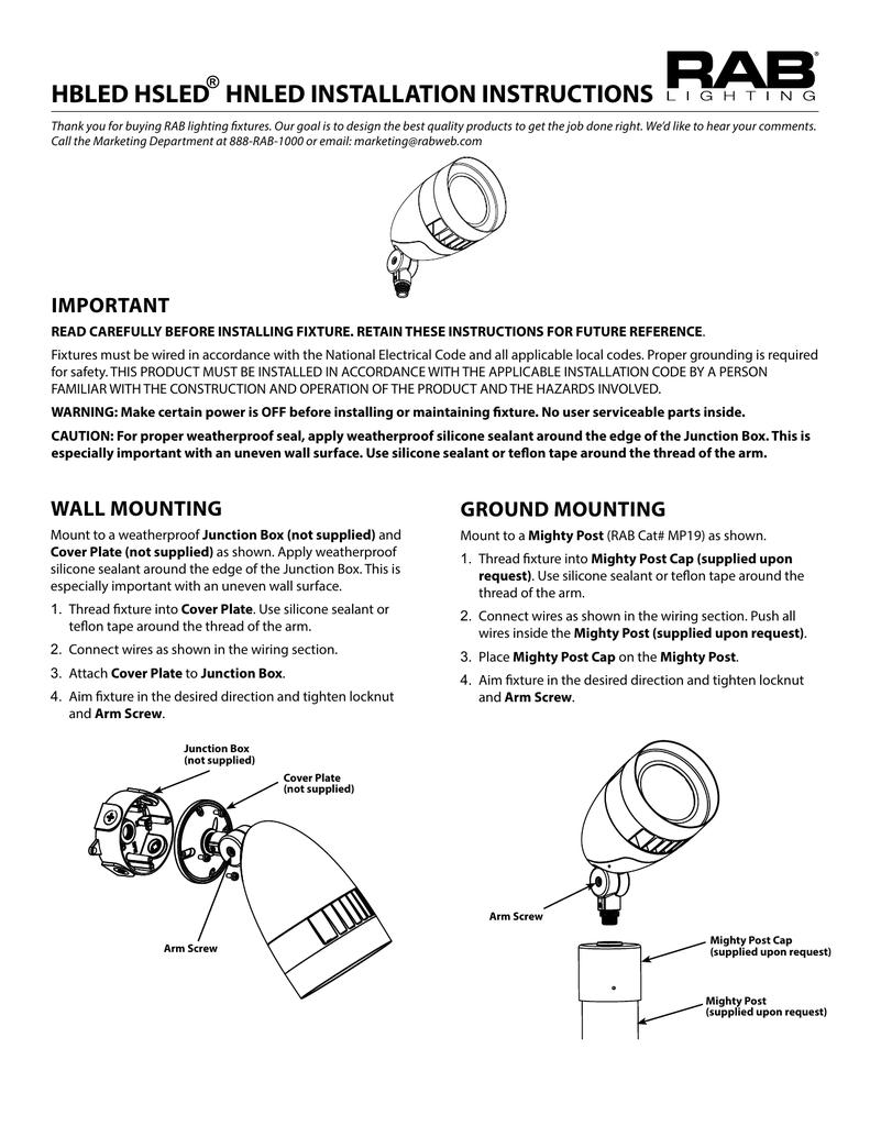 Instructions - RAB Lighting on