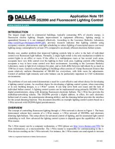 Application Note 191 DS2890 and Fluorescent Lighting Control