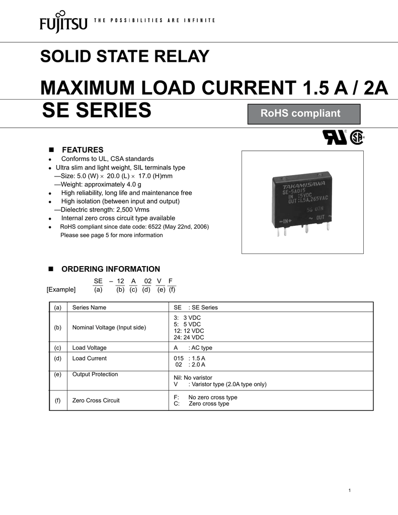 Se Series Solid State Relay Example