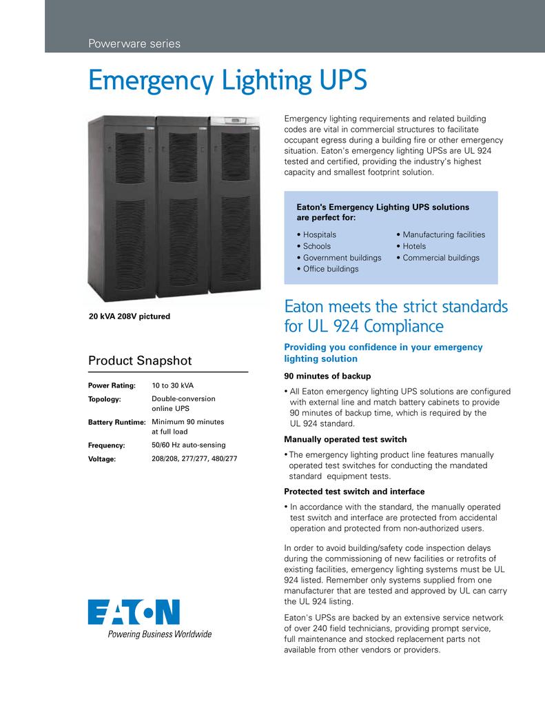 Emergency Lighting UPS