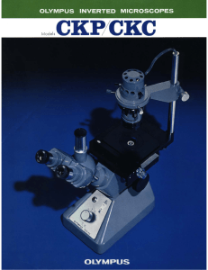 Olympus Inverted Microscopes CKP/CKC (CK) brochure