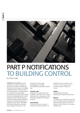 part p notifications to building control