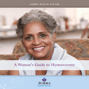 A Woman`s Guide To Hysterectomy