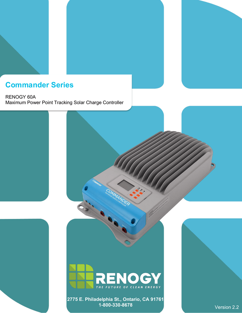 60a Commander Charge Controller 145v Open Circuit Voltage Mppt Solar
