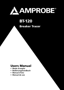 BT-120 Breaker Tracer Product Manual
