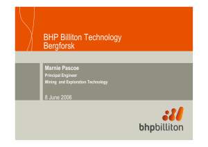 BHP Billiton Technology Bergforsk