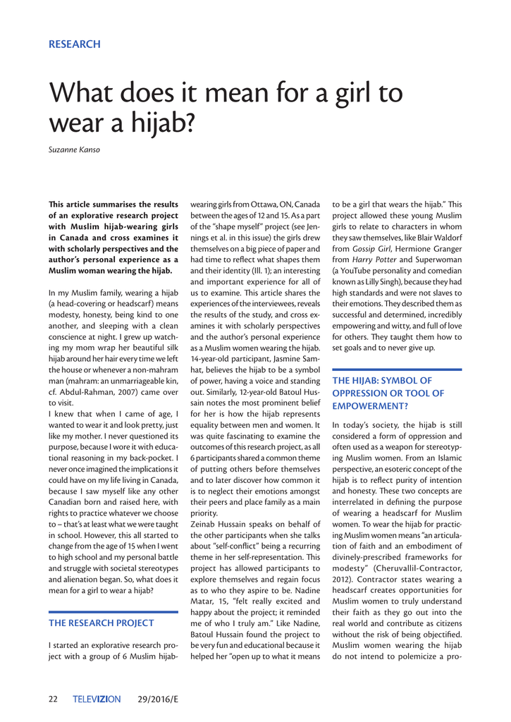 What Does It Mean For A Girl To Wear A Hijab Br