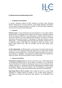 ILC-Brazil Annual Activities Report 2013