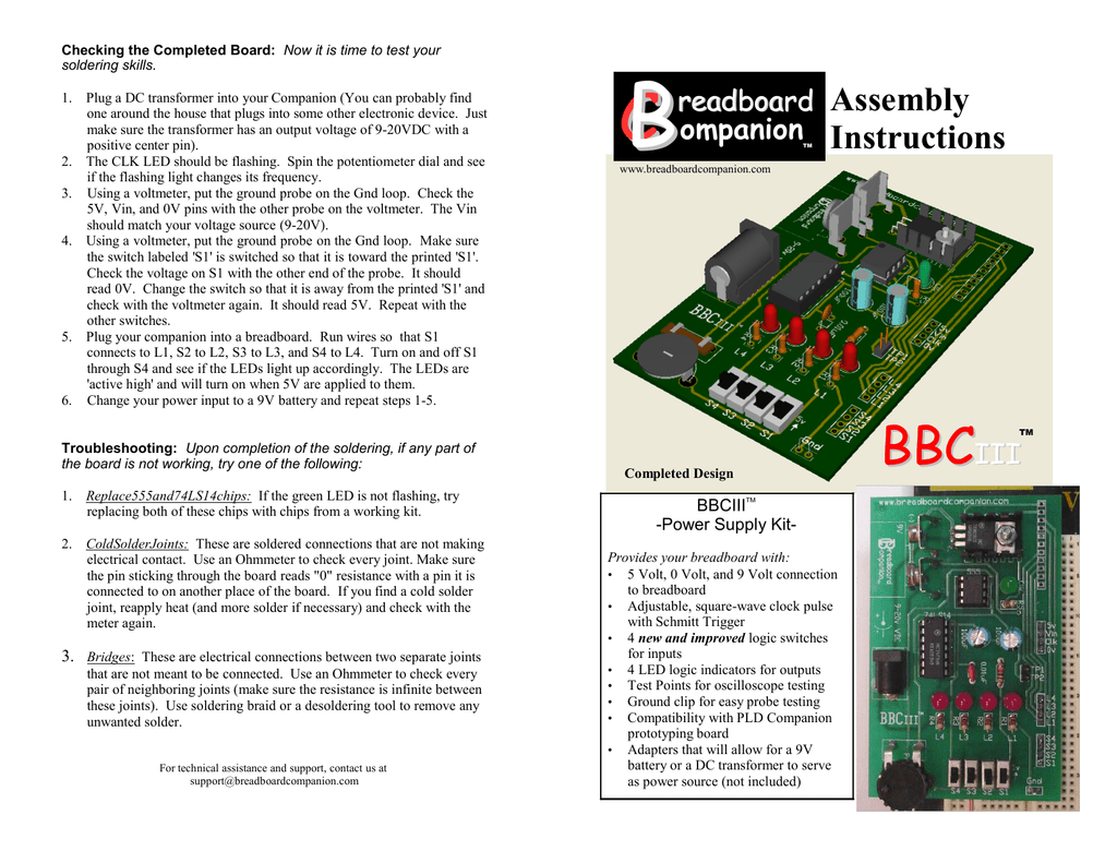 Bbciii Power Supply Kit Assembly Instructions How To Solder Remove A Resistor Soldered Circuit Board