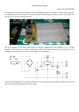 Breadboard Power Supply By Kevin Mc Donald ZS6KMD This
