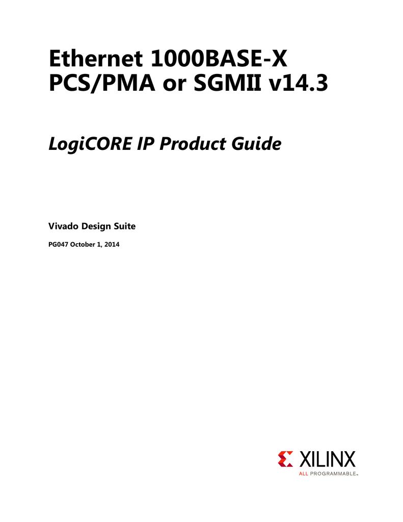 Xilinx PG047 Ethernet 1000BASE
