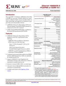 Ethernet 1000BASE-X PCS/PMA or SGMII v9 1