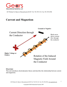Current and Magnetism - Gears Educational Systems