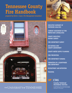 Tennessee County Fire Handbook - County Technical Assistance