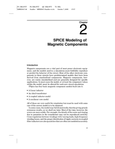 SPICE Modeling of Magnetic Components