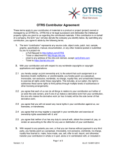 OTRS Contributor Agreement