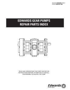 edwards gear pumps repair parts index