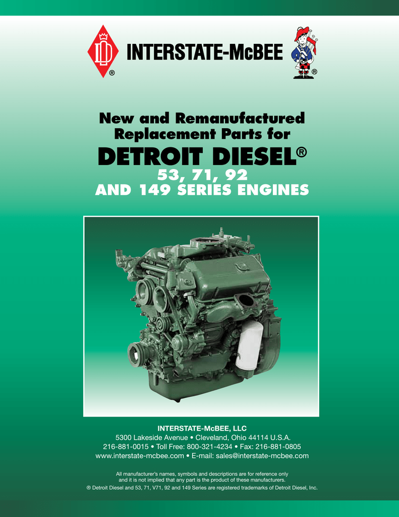 Detroit Diesel ® 2 Cycle 2013