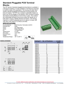 Standard Pluggable PCB Terminal Blocks