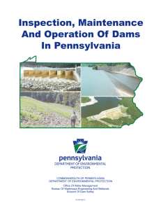 Inspection, Maintenance and Operation of Dams in Pennsylvania