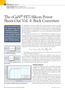 The eGaN FET-Silicon Power Shoot-Out Vol. 4