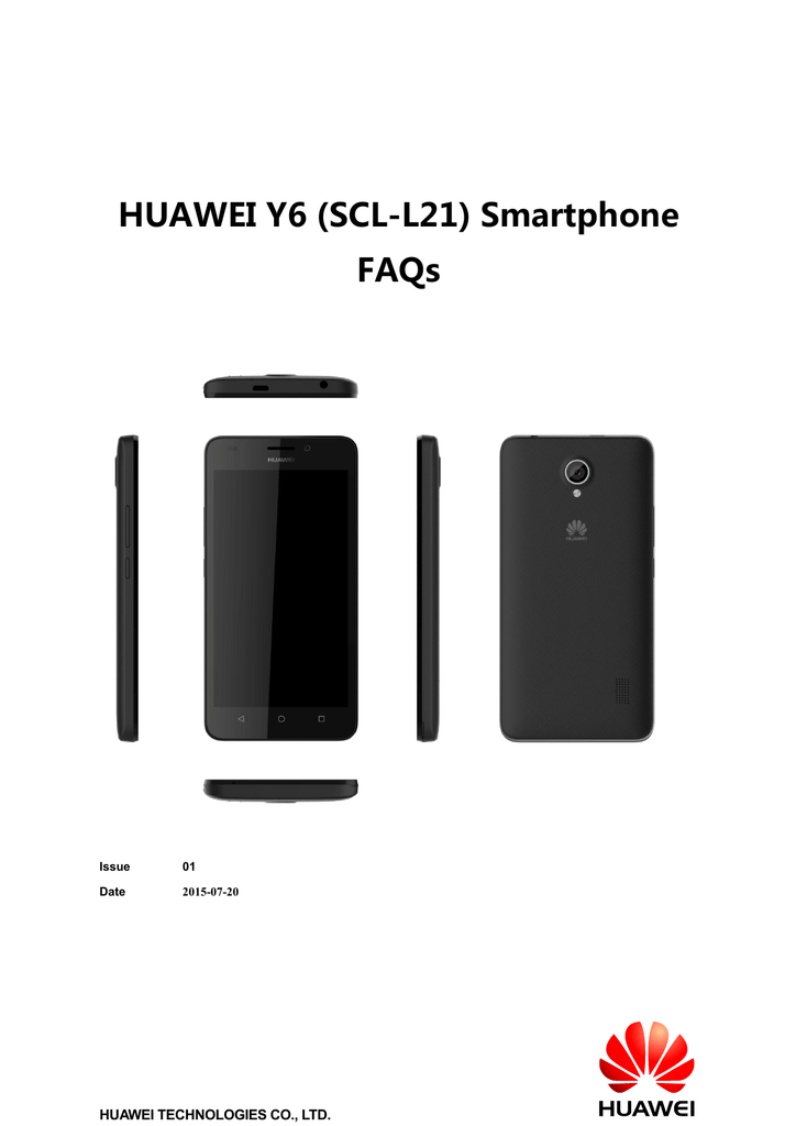 HUAWEI Y6 (SCL-L21) Smartphone FAQs