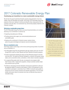 2017 Colorado Renewable Energy Plan