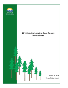 2015 Interior Logging Cost Report Instructions