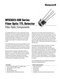 HFD3023-500 Series - Honeywell Sensing and Control