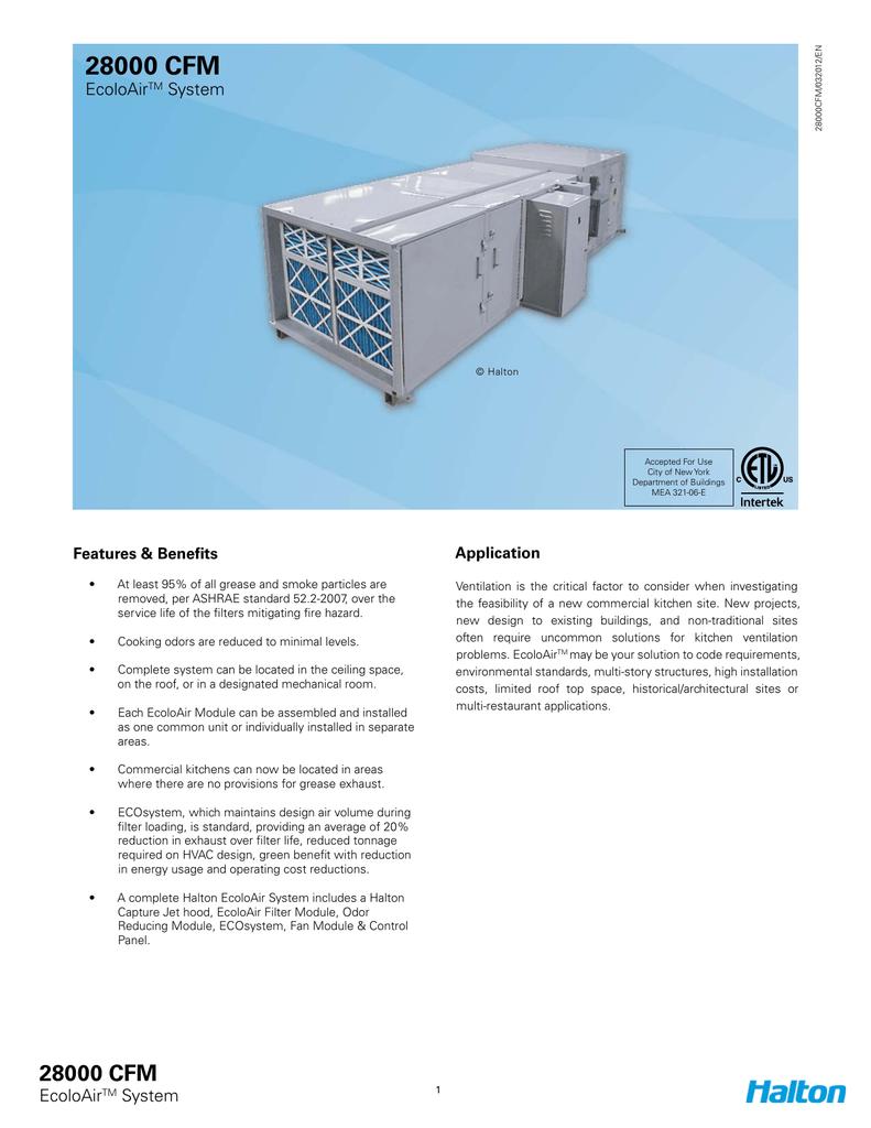 28000 Cfm Halton Exhaust Hood Wiring Diagram